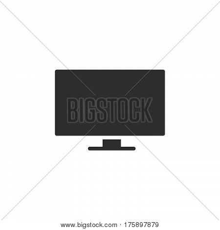 Flat Screen TV icon vector filled flat sign solid pictogram isolated on white. Symbol logo illustration. Pixel perfect