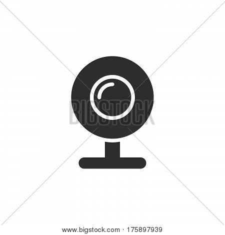 Web camera webcam icon vector filled flat sign solid pictogram isolated on white. Symbol logo illustration. Pixel perfect