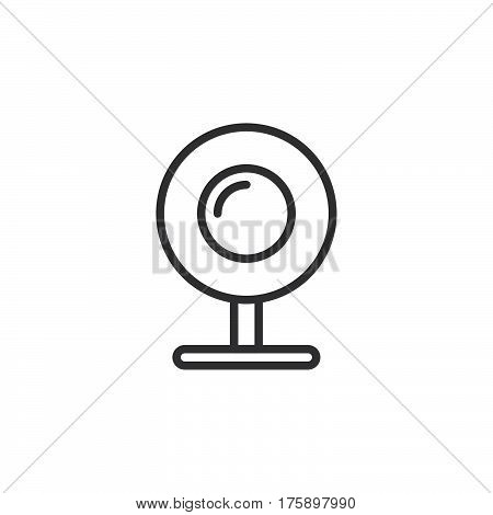 Web camera webcam line icon outline vector sign linear style pictogram isolated on white. Symbol logo illustration. Editable stroke. Pixel perfect