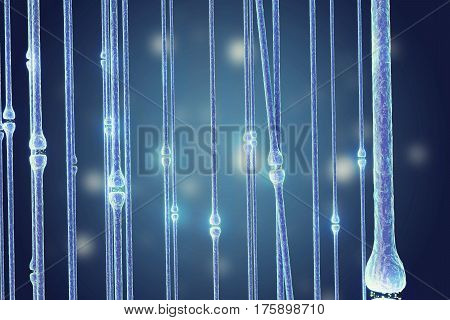 Illustration of an active receptor isolated on white background, 3d rendering