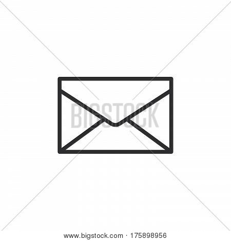 Envelope mail message line icon outline vector sign linear style pictogram isolated on white. Symbol logo illustration. Editable stroke. Pixel perfect