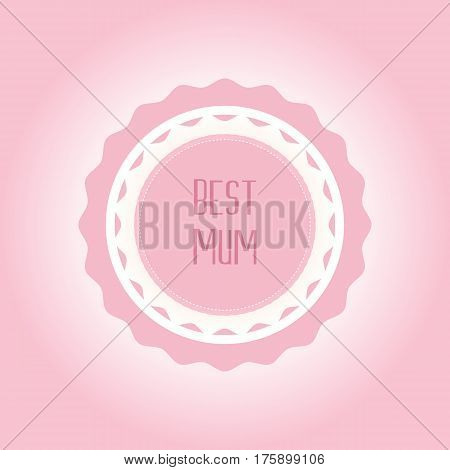 Happy Mothers Day ribbon badge. Mothers day greeting card