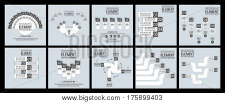 COLLECTIONS ELEMENT FOR INFOGRAPHIC  TEMPLATE GEOMETRIC FIGURE STIKER RAINBOW THIRD EDITION BLACK
