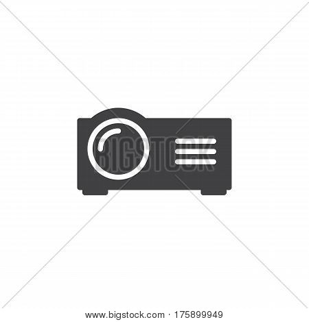 Presentation digital projector icon vector filled flat sign solid pictogram isolated on white. Symbol logo illustration. Pixel perfect