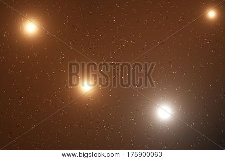 Night sky filled with stars and nebula, space dust in the universe, 3d rendering