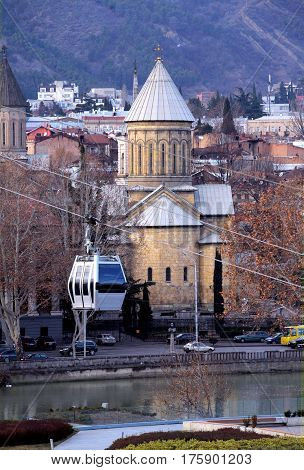 The Sioni Cathedral of the Dormition is a Georgian Orthodox cathedral in Tbilisi