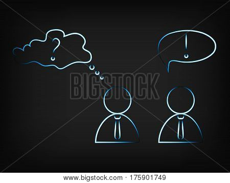 Vector Of Business Men Sharing Opinions