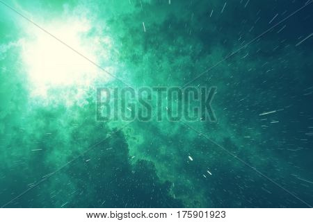 Universe star field in deep space with nebula many light years far from the Earth. Colorful background, 3d rendering
