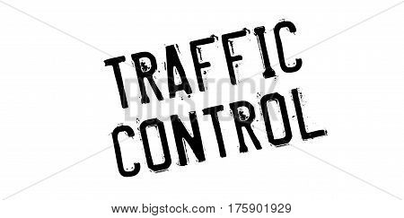 Traffic Control rubber stamp. Grunge design with dust scratches. Effects can be easily removed for a clean, crisp look. Color is easily changed.