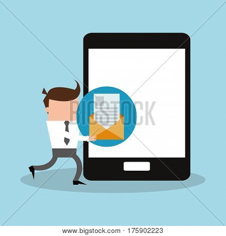 instant messaging related icons image vector illustration design