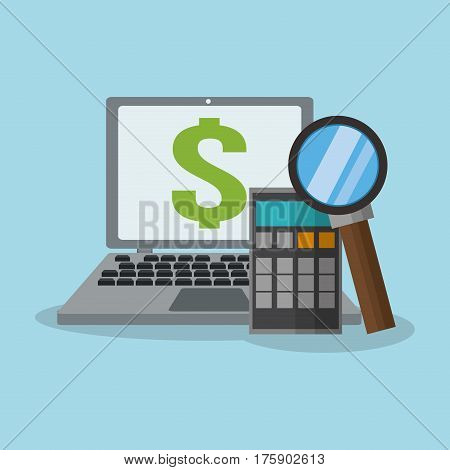 computer money or economy related icons image vector illustration design