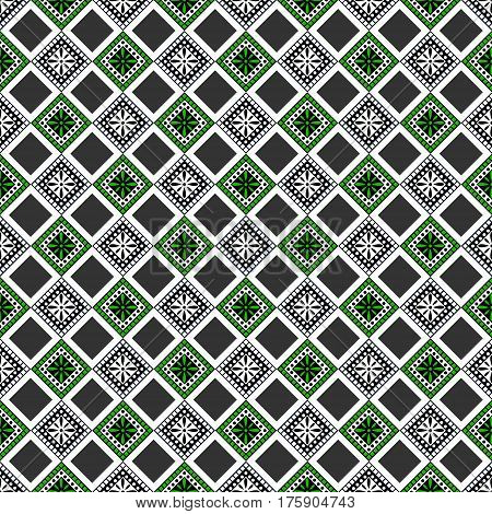 Seamless Vector Decorative Hand Drawn Pattern. Ethnic Endless Background With Ornamental Decorative