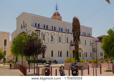 Rethymno, Greece - August  2, 2016:  Metropolitan Church.