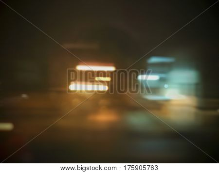abstract light city night background