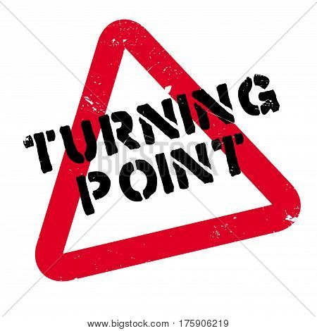 Turning Point rubber stamp. Grunge design with dust scratches. Effects can be easily removed for a clean, crisp look. Color is easily changed.