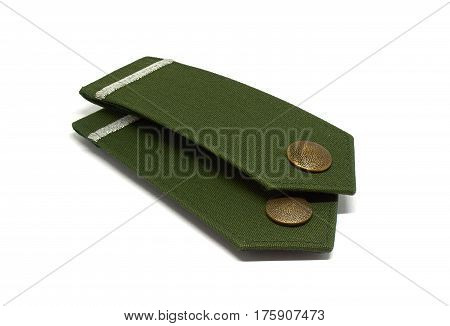 german police epaulets isolated from a commissar