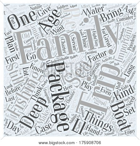A Deep Sea Fishing Family Guide Word Cloud Concept
