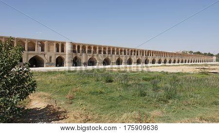 Si-o-se Bridge, Isfahan, Iran, Middle East, Central Asia