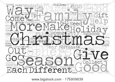 A Different Kind of Christmas text background word cloud concept