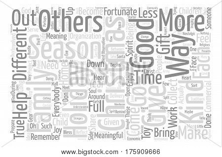 A Different Kind of Christmas Word Cloud Concept Text Background