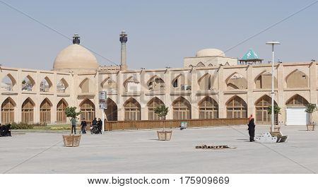 ISFAHAN, IRAN - OCTOBER 12, 2016: Panorama of Meydan-e Imam Ali on October 12, 2016 in Isfahan, Iran