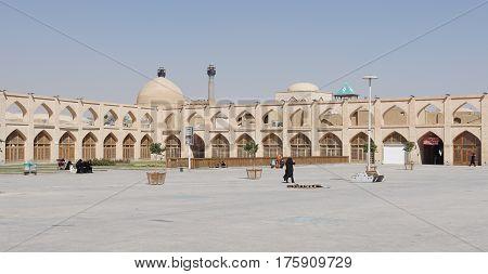 ISFAHAN, IRAN - OCTOBER 12, 2016: Panorama of Meydan-e Imam Ali on October 12, 2016 in Isfahan, Iran