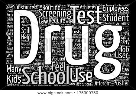 A Different Kind Of School Test text background word cloud concept