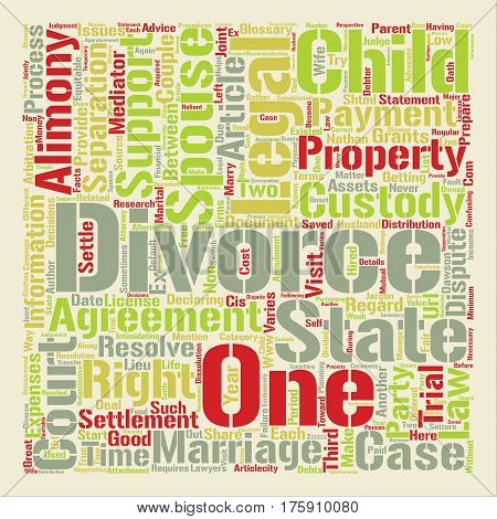 A Divorce Glossary text background word cloud concept
