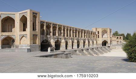 Khaju Bridge, Isfahan, Iran, Middle East, Central Asia