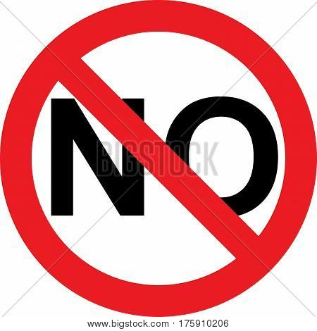 No negativity allowed sign on white background