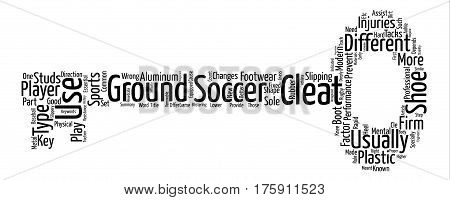 A Firm Step With Soccer Cleats text background word cloud concept