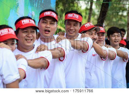 People Playing Sport Game In Vung Tau, Vietnam