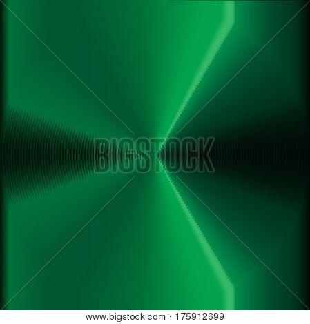 An abstract circles vertigo efect in green