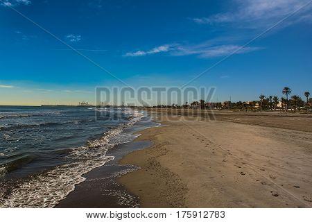 The beach town of Castellоn in Valencia (Spain). November 2007