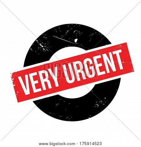 Very Urgent rubber stamp. Grunge design with dust scratches. Effects can be easily removed for a clean, crisp look. Color is easily changed.