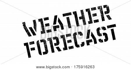 Weather Forecast rubber stamp. Grunge design with dust scratches. Effects can be easily removed for a clean, crisp look. Color is easily changed.