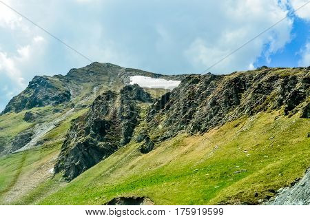 The Carpatian Mountains Near The Road Called