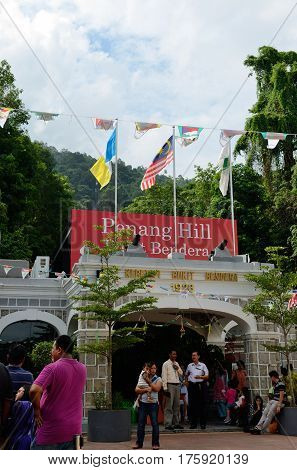 Georgetown/Malaysia - September 2012: Funicular bringing tourists to the top of Penang hill, Penang Island, Malaysia.