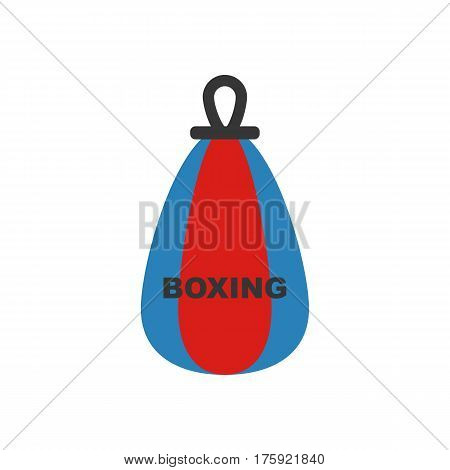 Punching bag on the white background. Vector illustration