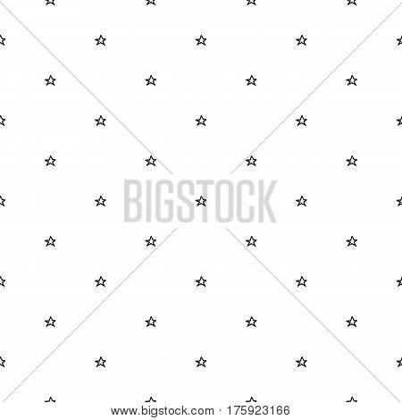 Abstract doodle star pattern with hand drawn stars. Cute vector black and white star pattern. Seamless monochrome star pattern for fabric, wallpapers, wrapping paper, cards and web backgrounds.