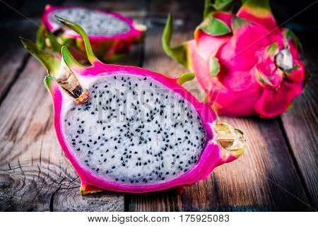 Tropical Dragon Fruit Or Pitaya