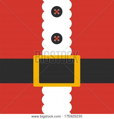 Santa Claus costume. Cartoon vector card. Flat style
