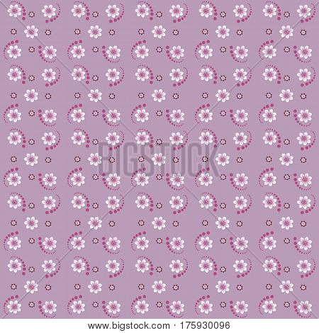 Abstract pink floral seamless pattern for cotton and linen fabrics can be used for summer and spring clothes home textiles and napkins handkerchiefs linens and wrapping.