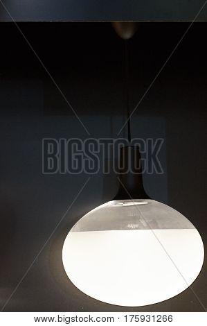 Modern Light Fixture On A Black Background