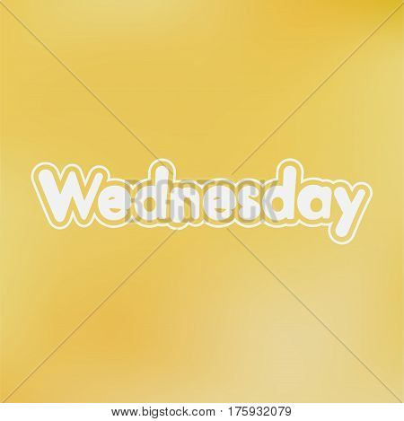 Wednesday. Vector card for social media content cards wall art website blog