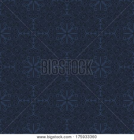 Seamless islam pattern. Vintage floral background. raster islamic royal black. Oriental design and baroque wallpaper