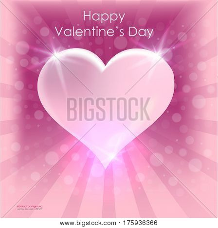 Valentine's Day bright heart poster vector card design. abstract vector background February 14. greeting cards with Mother's Day International Women's Day.