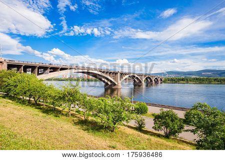 Communal Bridge In Krasnoyarsk