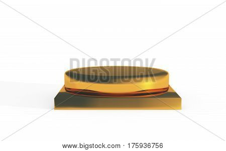 Golden Stand For Products Display