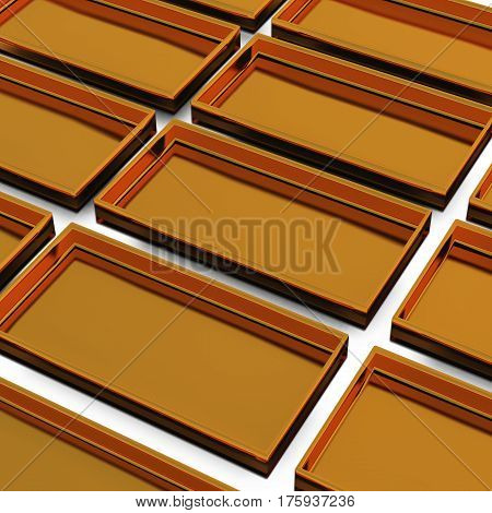 Gold Tray High Angle